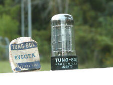 A VINTAGE TUNG-SOL  6V6GTA BLACKPLATE NOS/NIB VACUUM TUBE