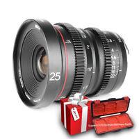Meike Mini Cine Lens 25mmT2.2 for M4/3mount OLYMPUS/Panasonic Lumix BMPCCCamera