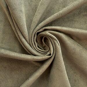 "Corduroy fabric - Khaki green colour - 12 wale - 60"" wide - Dress fabric - Craft"