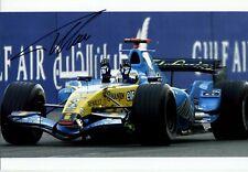 Fernando Alonso Renault R26 Winner Bahrain Grand Prix 2006 Signed Photograph