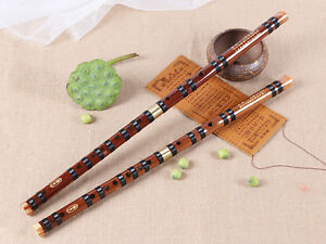 Bamboo Flute Woodwind Open Hole Dizi Musical Instruments Wood Wind Section Gold