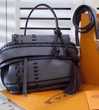 Tod's Bag Ladies  Bag Hand Bag Gray New