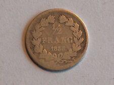 FRANCE 1/2 franc 1833 T - Silver, argent demi