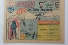 1963 tv show toy cartoon ad ~ RIPCORD Sky Diving Parachutist