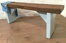 UK Hand Painted Laura Ashley Duck Egg Blue 3ft Reclaimed Solid Pine Dining Bench