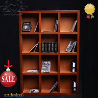 "4 Layers 1/6 Wooden Book Case Bookshelf Scenery DIY Accessories for 12"" Figures"