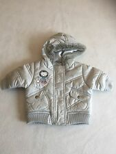 Baby Girls clothes-Cute girl newborn argent à capuche Manteau Veste