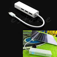 USB-C Type-c Type C to USB HUB With RJ45 Lan Adapter For Macbook PC  Laptop