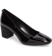 $125 size 6.5 Michael Kors Cher Flex Mid Glitter Heel Pumps Leather Womens Shoes