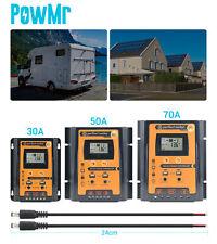 30A 50A 70A PWM Solar Charge Controller Panel Regulator DC12V/24V Dual USB