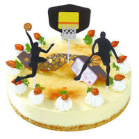 Basketball Acrylic Cake Topper  Slam Dunk Cupcake For Birthday Sports Party CaG0