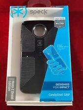 NEW Motorola Moto Z Droid OEM Speck Candyshell Grip Case - Black/White/Green
