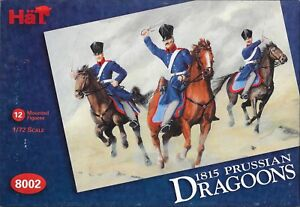 HäT/HaT Napoleonic Wars 1815 Prussian Dragoons 1/72 Scale 25mm