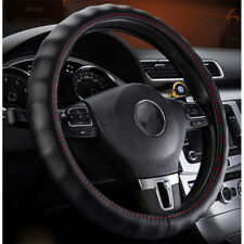Luxury Anti-slip Auto Car Steering Wheel Cover Genuine Leather Universal 37-38cm