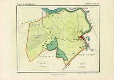 ANTIQUE MAP-NETHERLANDS-ENGELEN-NOORD BRABANT-KUYPER-1865