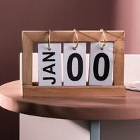 Wooden Desk Calendar Desktop Ornament Creative Bedroom Study Room Home Decor Art