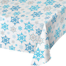 Snowflake Tablecover Frozen Winter Christmas Party Table Decorations Supplies