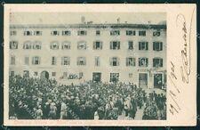 Trento Mori Comizio 1901 cartolina QT4281