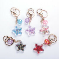 1PC Women Star Handbag Pendant Keychain Bag Keyring Key Chain Crafts Accessories