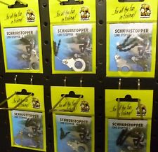 90 Stück Behr Posenstopper / Schnur-/ Gummistopper je 30x Gr. S / M / L schwarz