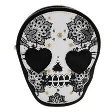 Women Skull Faux Leather Satchel Handbag Shoulder Tote Messenger Crossbody Bag
