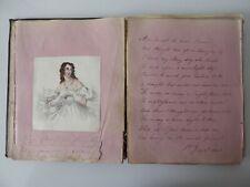 More details for antique victorian scrap album circa 1840s scraps & poems & other text 2 sketches
