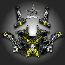 Polaris RZR 800 UTV Graphics Decal Wrap 2011 - 2014 Skull Rider Yellow