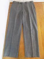 Chaps Men's Wool Dress Pants Sz 38 W X 32 L Heather Gray Slacks Flat Front Lined