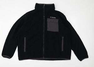 Columbia Mens Black  Fleece Jacket  Size 2XL