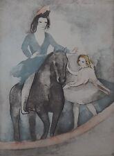 """Marie LAURENCIN : """"DIALOGUE SUR LA DANSE"""" - GRAVURE ORIGINALE SIGNEE (1949)"""