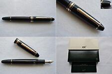 """NEW"" Montblanc Meisterstuck Legrand 146 Gold Fountain Pen 14K BB ExtraBroad Nib"