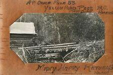 At Camp Mile 53 Yellow Head Pass, BC Canada RPPC 1912