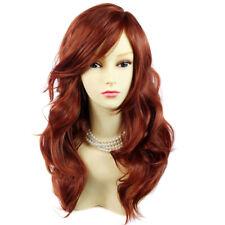 Wonderful wavy Long Copper Red Heat Resistant Ladies Wigs Hair UK