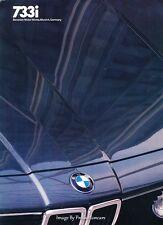 1982 BMW 733i Original Car Sales Brochure  - E23