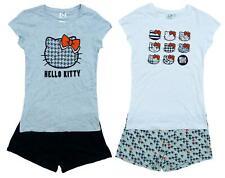 Womens Pyjamas Hello Kitty Ladies Pajamas T-Shirt Top Short Pjs Cotton S M L XL