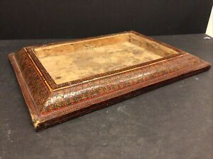 Strange Antique Persian Picture Frame Shadow Box Khatam Middle Eastern Inlay