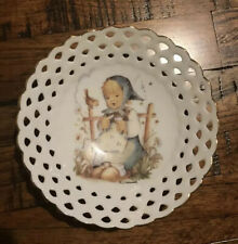"M. J. Hummel 1993 ""He Loves Me?"" Perforated Dish"