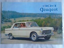 Peugeot 404 brochure 1960's English text
