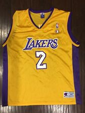 8657f13b96a Vintage🔥 Champion NBA Los Angeles Lakers Derek Fisher Gold Purple Jersey  Sz 44