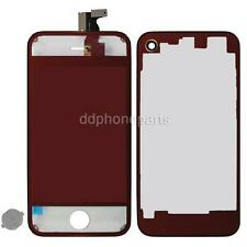 Plating Mirror LCD Screen Touch Digitizer +Back Cover for iPhone 4 CDMA Red