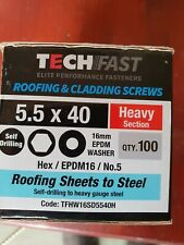 5.5x40mm- Heavy Section- TechFast- Tek Screws Sheet to Steel Box100-With Washers