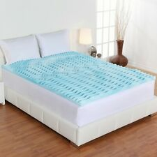 Foam Queen Size Mattress Topper 2 Inch Premium Orthopedic Pad Bed Protector New