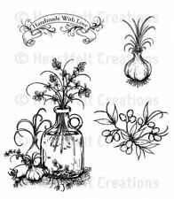 Heartfelt Creations Cling Stamp Set ~ JUG OF HERBS ~ Farmers Market ~ HCPC-3687