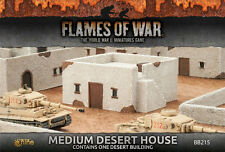 Flames of war battlefield in a box bnib milieu désert house BB215