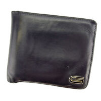 Gucci Wallet Purse Bifold Black Mens Authentic Used C2231