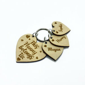 Personalised Gift Heart Keyring This Mummy, Auntie, Nanny, Granny Belongs To: