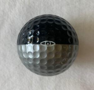 Nice! Vintage / Rare Ping Eye Black & Silver Golf Ball - Two Tone Ping Ball