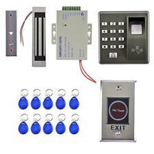 Porte Digitale/Code Accès Contrôle Serrure de Porte Magnétique Bleu+Argent