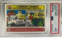 2003-04 Bazooka Comics #15 Lebron James graded ROOKIE card PSA 9 GEM