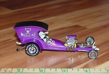 """TOY ZONE TOM DANIELS """"BAD MEDICINE"""" SKELETON DRIVEN DRAGSTER 1/43RD RARE W/RRS"""